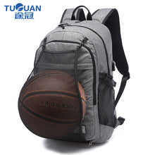 "TUGUAN Solid 15.6""Laptop Backpack External USB Charge Computer Backpacks College School Bags Waterproof Travel Bags for Men"