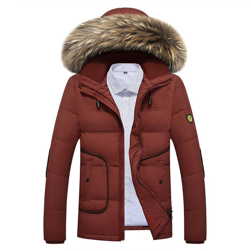 2017 Free Shipping Winter New Youth Quality Warm Duck Down Jacket Thickening Parka Coat Men's Winter Clothes D153