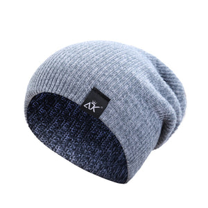 2017 Winter Kinitted Hat Women Men Skullies Beanies Unisex Warm Hat Fashion Simple Warm Caps 7 Colors Soft Cotton Beanies F2