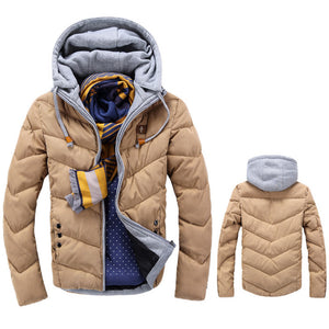 2017 Winter Fashion Men Casual Down Coat Thicken Warm Padded Puffer Coats Parkas Hooded Jackets Outwear Windproof