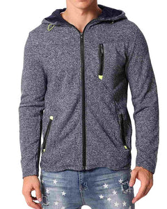 Warm Fleece Hoodies Men Full Zip Up Jackets Cotton Fleece Casual Hooded Sweatshirt Male Sportswear Plus Size 3XL