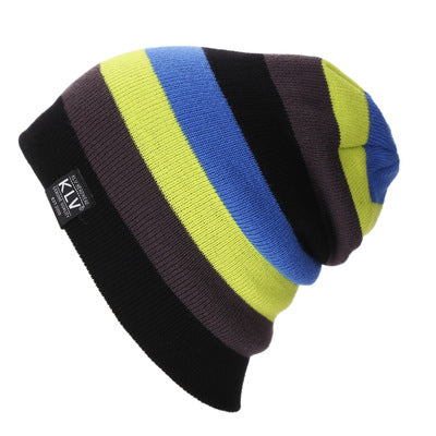 New Winter Beanies Striped Rainbow Hat winter Knitted Hats for Women&men Casual Skullies Knitted Beanies Women Fashion Cap