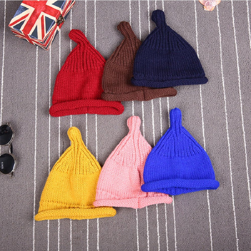 Brand New Winter Hats for Kids Warm Skullies Beanies Hat Casual Solid knitted Caps Boys Girls Fashion Children Woolen Knit Cap