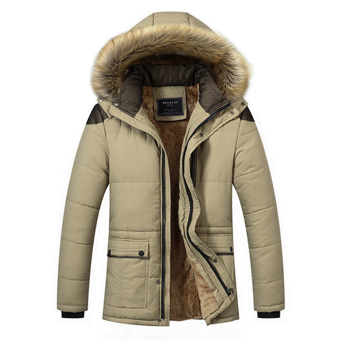 2017 Free Shipping Autumn And Winter Youth Leisure Long Winter Coat Men Cotton Parka Coat Cashmere Jacket Outwear D138