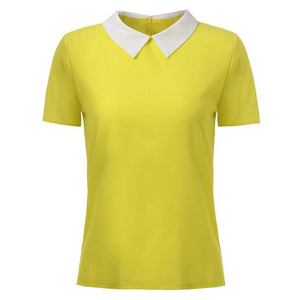 Plus size S-L polo femme brand short Polo shirt  women Solid Loose short sleeve shirt for women camiseta polo feminina A2