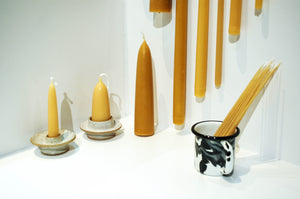 Pure Beeswax Candles - Short Stubby