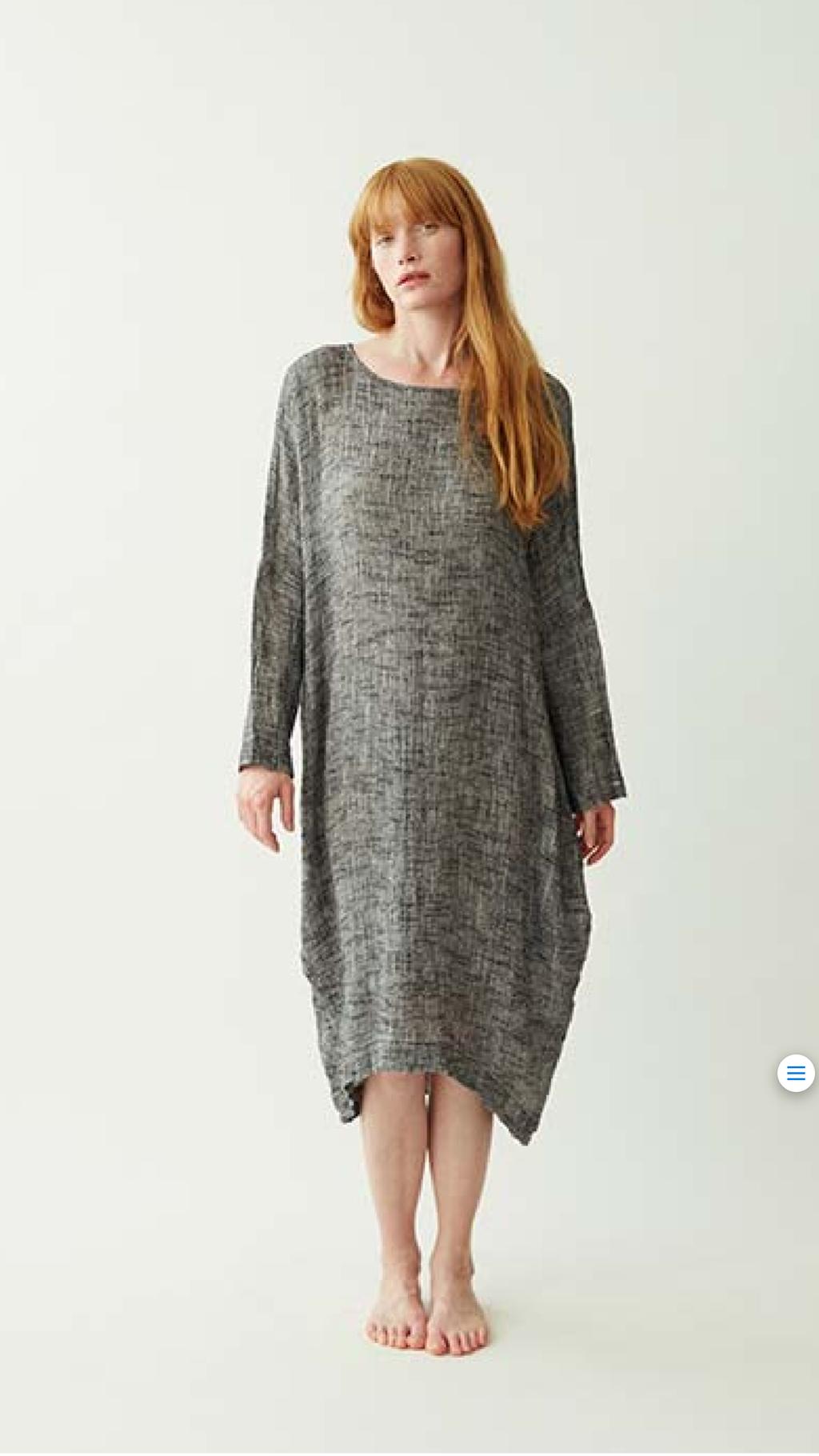Black crane bud dress - peper grey