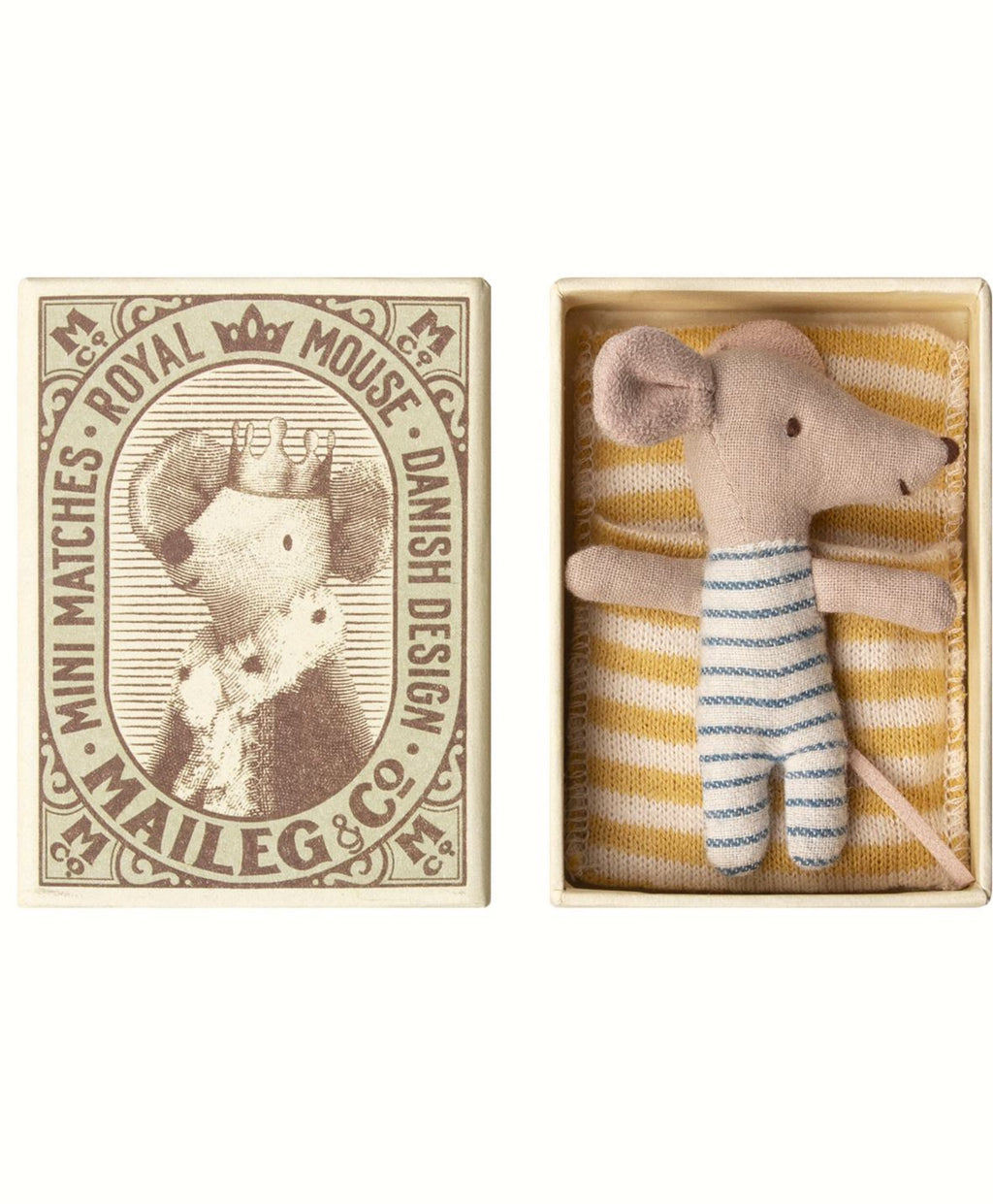 Maileg -  Sleepy/Wakey Mouse in Matchbox