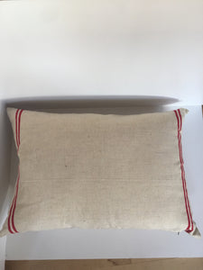 French vintage linen cushion