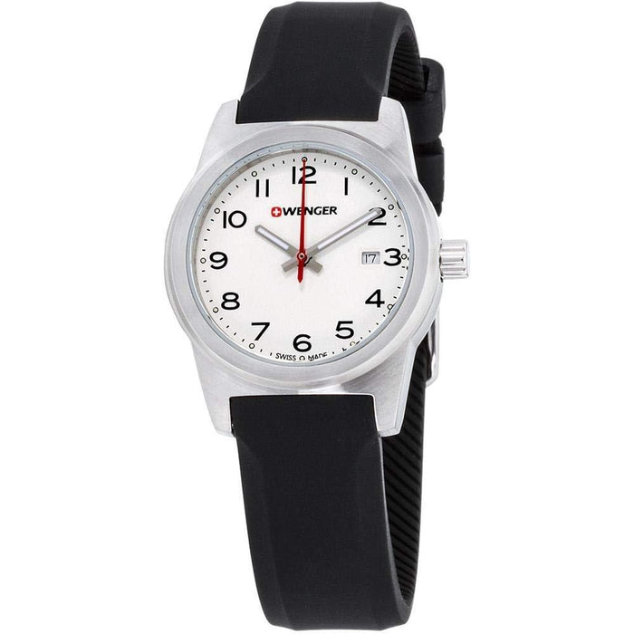 Wenger Women's 01.0411.133 Field Color Black Silicone Watch
