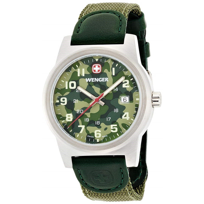 Wenger Men's 01.0441.105 Classic Color Green Nylon Watch