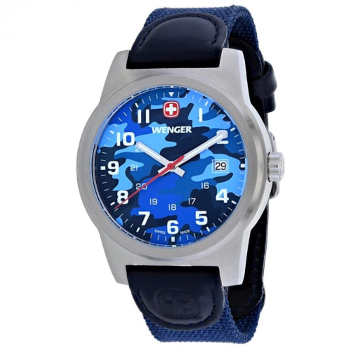 Wenger Men's 01.0441.106 Classic Color Blue Nylon Watch