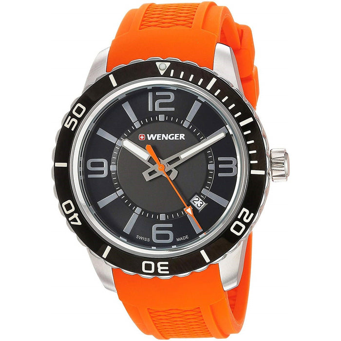Wenger Men's 01.0851.114 Roadster Orange Silicone Watch