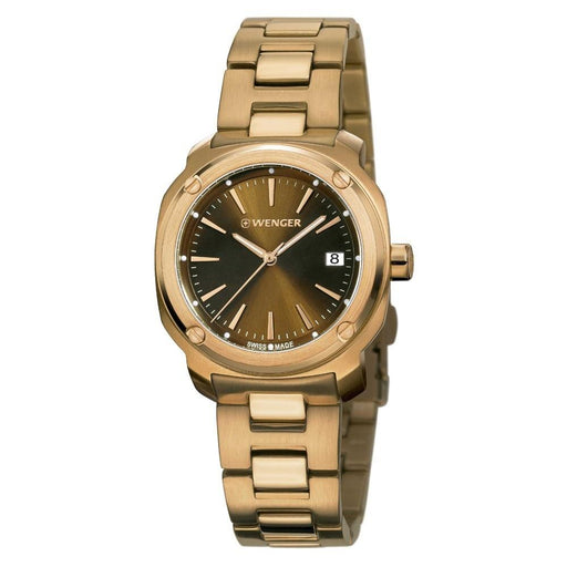 Wenger Women's 01.1121.105 Edge Index Rose-Tone Stainless Steel Watch