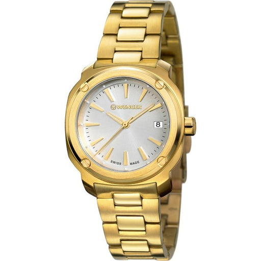 Wenger Women's 01.1121.107 Edge Index Gold-Tone Stainless Steel Watch