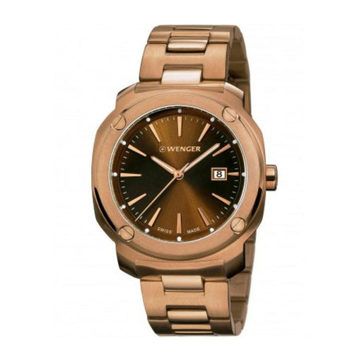 Wenger Men's 01.1141.114 Edge Index Rose-Tone Stainless Steel Watch