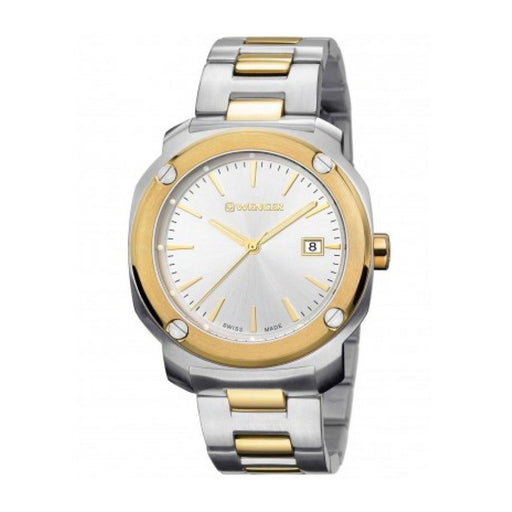Wenger Men's 01.1141.115 Edge Index Two-Tone Stainless Steel Watch