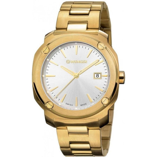 Wenger Men's 01.1141.116 Edge Index Gold-Tone Stainless Steel Watch