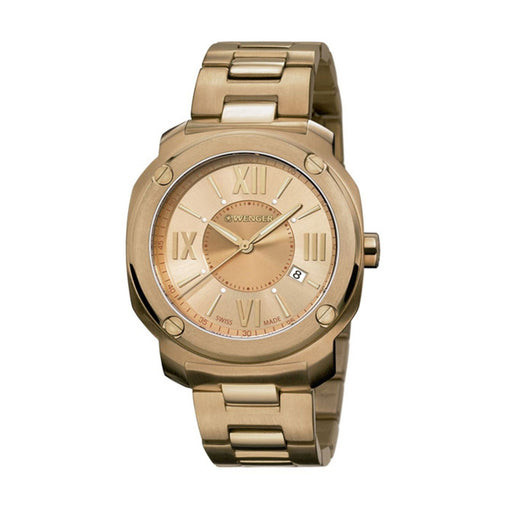 Wenger Men's 01.1141.121 Edge Romans Rose-Tone Stainless Steel Watch