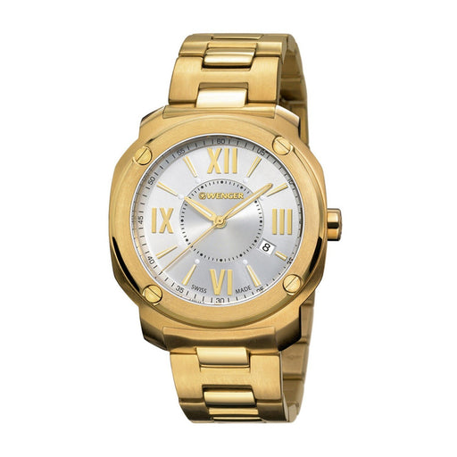 Wenger Men's 01.1141.122 Edge Romans Gold-Tone Stainless Steel Watch