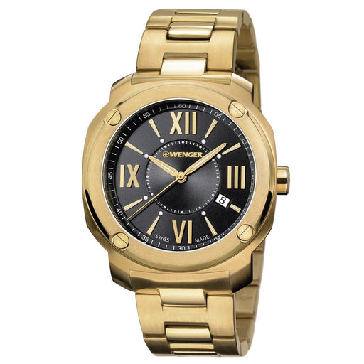 Wenger Men's 01.1141.123 Edge Romans Gold-Tone Stainless Steel Watch