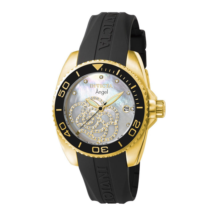 Invicta Women's 0489 Angel Black Polyurethane Watch