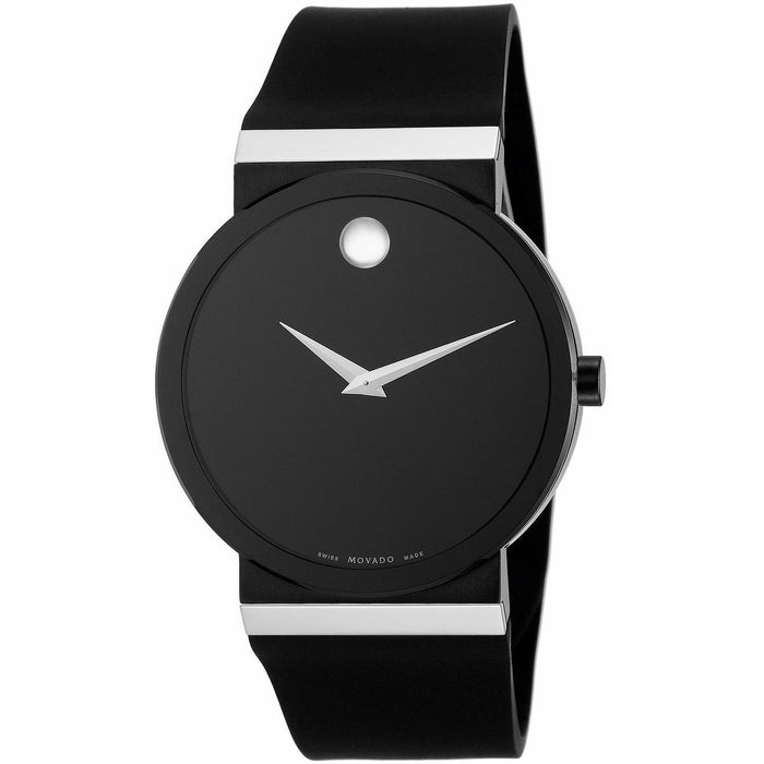 Movado Men's 0606268 Museum Black Rubber Watch
