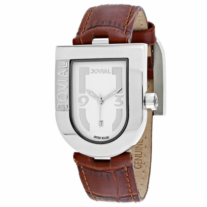 Jovial Women's 06406-MSL-01 Classic Brown Leather Watch