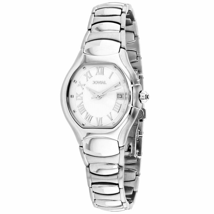 Jovial Women's 08031-LSM-01 Classic Stainless Steel Watch