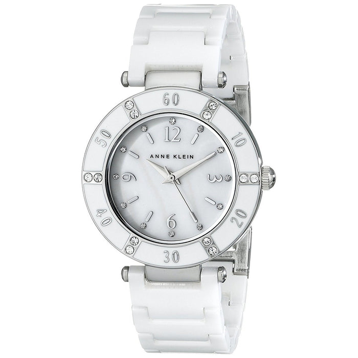 Anne Klein Women's 10-9417WTWT White Ceramic Watch