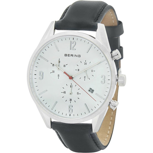 Bering Men's 10542-404 Classic Chronograph Black Leather Watch