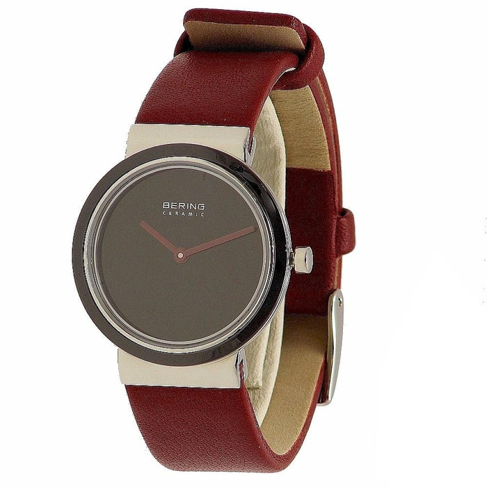 Bering Women's 10729-642 Ceramic Red Leather Watch