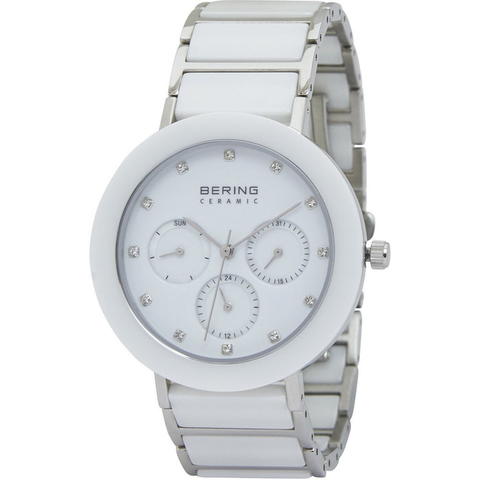 Bering Women's 11438-754 Ceramic Multi-Function Crystal Two-Tone Stainless steel and Ceramic Watch