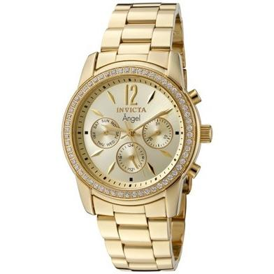 Invicta Women's 11770 Angel Chronograph Gold-tone Stainless Steel Watch