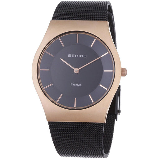 Bering Men's 11937-262 Titanium Black Titanium Watch