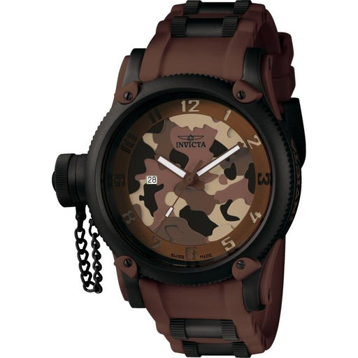 9fc8f53eb Invicta Men's 1198 Russian Diver Brown Polyurethane and Stainless Steel  Watch