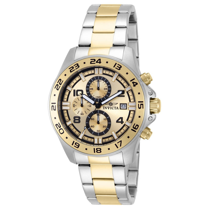 Invicta Men's 13867 Pro Diver Multi-Function Gold-tone and Silver Stainless Steel Watch