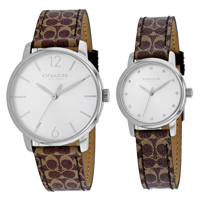 Coach Unisex 14000057 Classic Brown Leather Watch