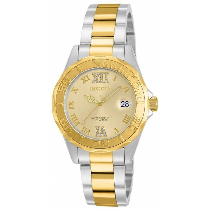 Invicta Women's 14351 Pro Diver Gold-Tone and Silver Stainless Steel Watch