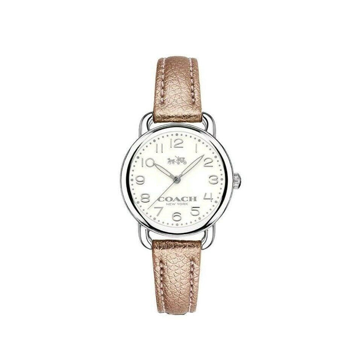Coach Women's 14502249 Delancey Pink Leather Watch