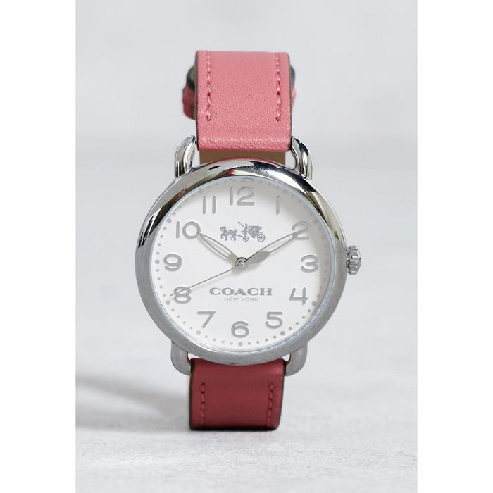 Coach Women's 14502717 Delancey Pink Leather Watch