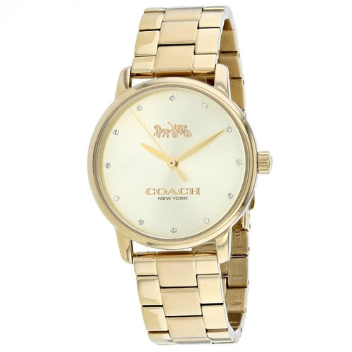 Coach Women's 14502927 Grand Gold-Tone Stainless Steel Watch