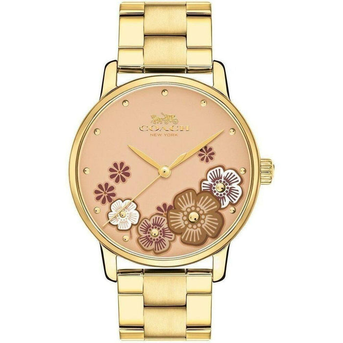 Coach Women's 14503006 Grand Gold-Tone Stainless Steel Watch