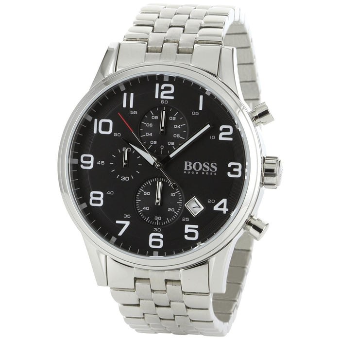 Hugo Boss Men's 1512446 Black Chronograph Stainless Steel Watch