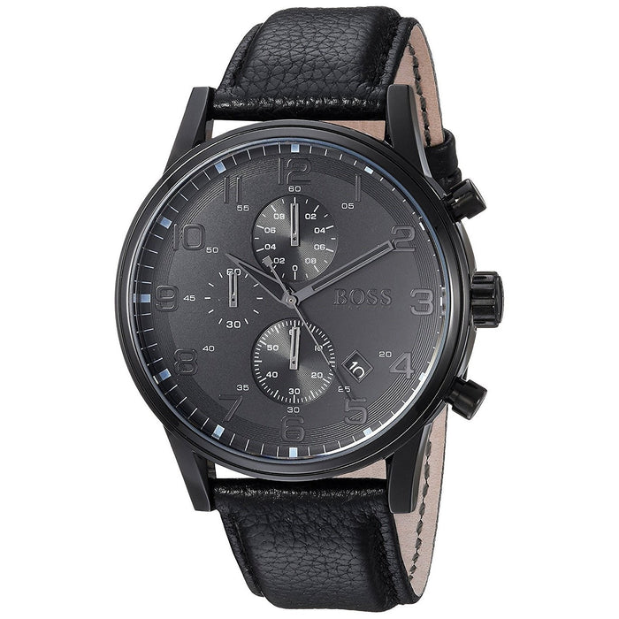 Hugo Boss Men's 1512567 Black Chronograph Black Leather Watch
