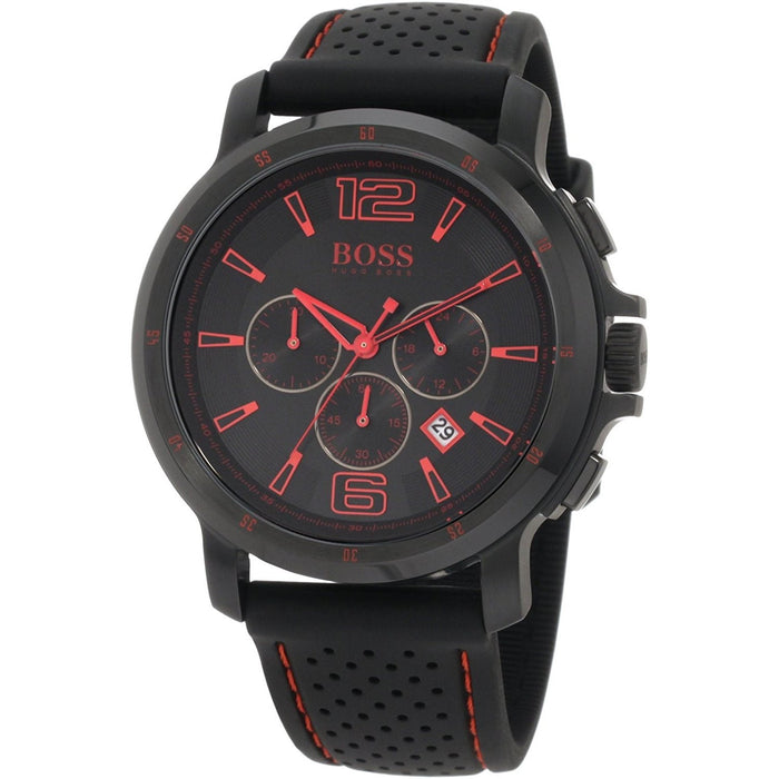 Hugo Boss Men's 1512597 Black Chronograph Black Silicone Watch