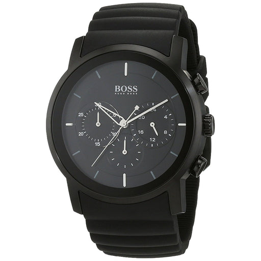 Hugo Boss Men's 1512639 Black Chronograph Black Rubber Watch