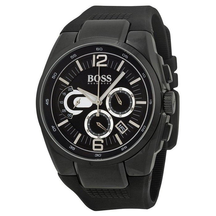 Hugo Boss Men's 1512736 Black Chronograph Black Rubber Watch