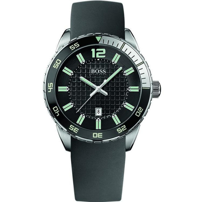 Hugo Boss Men's 1512885 Black Silicone Watch