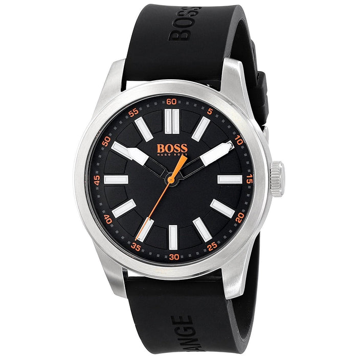 Hugo Boss Men's 1512936 Orange Black Silicone Watch